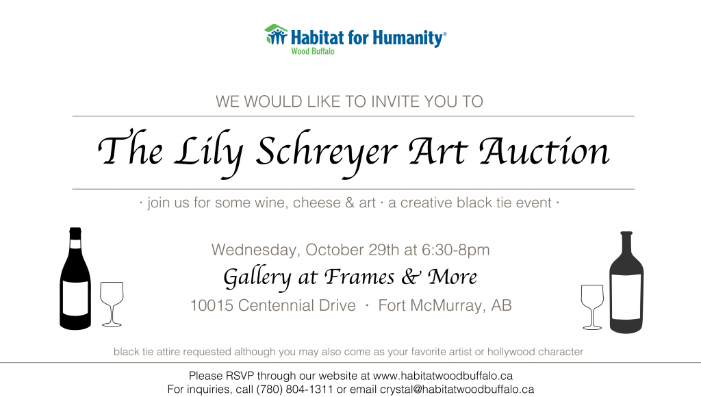 Habitat Wood Buffalo: Lily Schreyer Art Auction