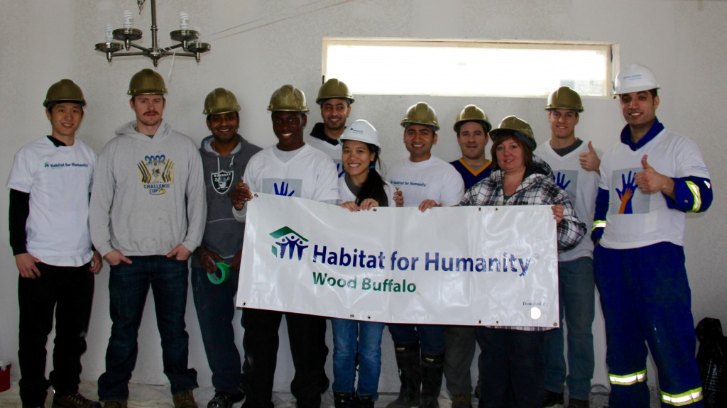 Habitat Wood Buffalo: Nalco Champion adopts  a build day