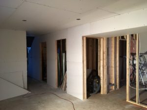 Downstairs Drywall